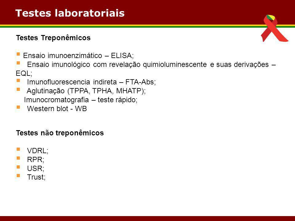 Testes laboratoriais Testes Treponêmicos