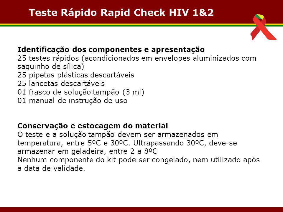 Teste Rápido Rapid Check HIV 1&2