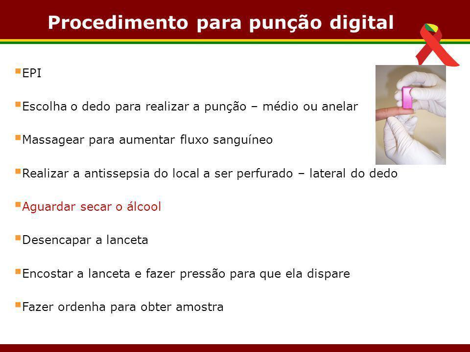 Procedimento para punção digital