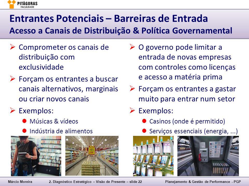 Entrantes Potenciais – Barreiras de Entrada Acesso a Canais de Distribuição & Política Governamental