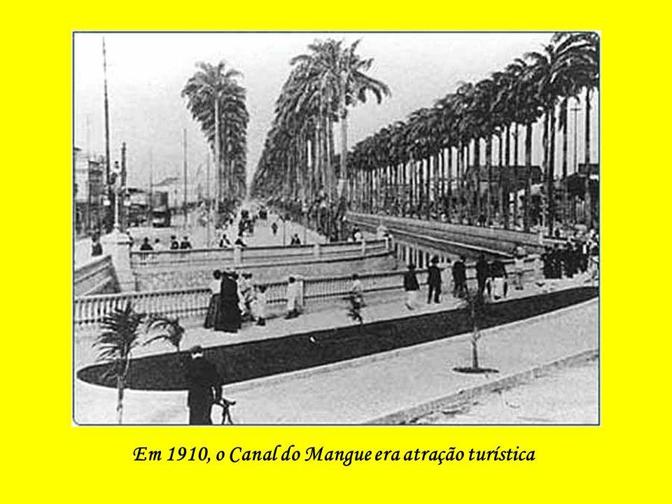 Em 1910, o Canal do Mangue era atração turística