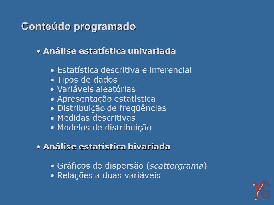 Conteúdo programado Análise estatística univariada