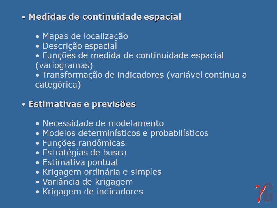 Medidas de continuidade espacial