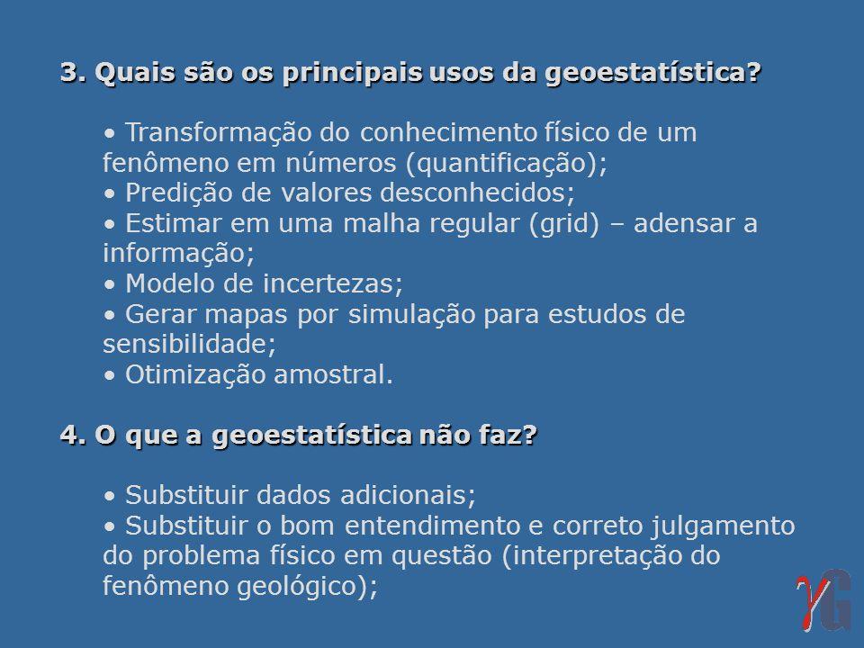 3. Quais são os principais usos da geoestatística