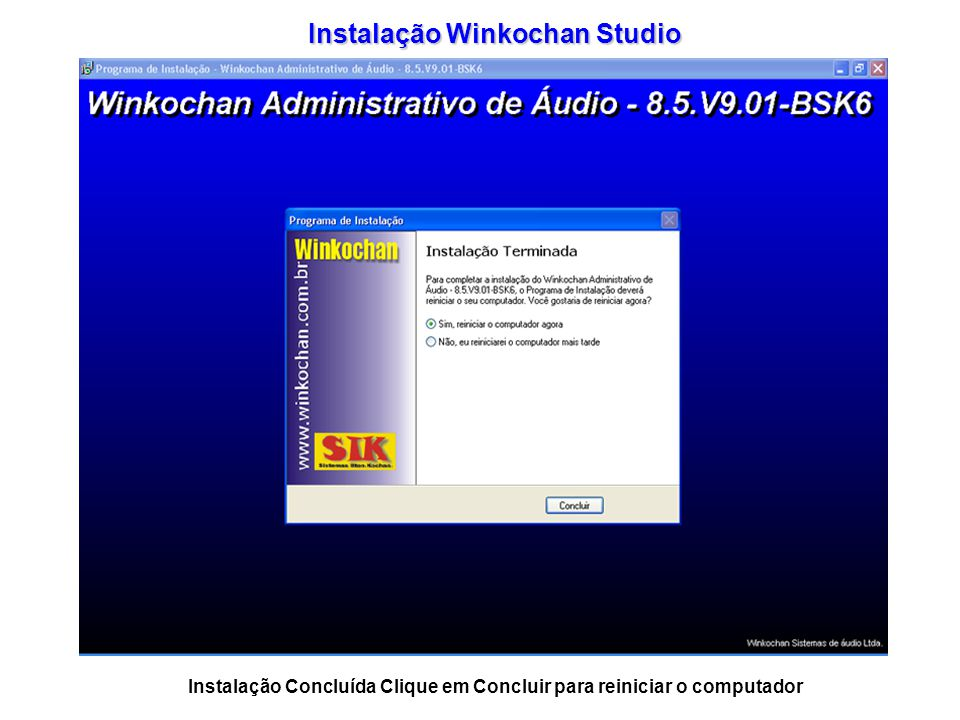 Instalação Winkochan Studio