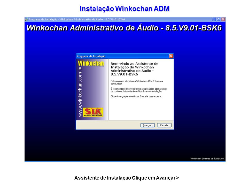 Instalação Winkochan ADM