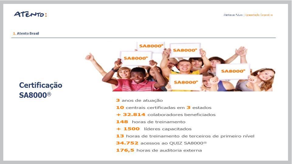 Certificação SA8000® 1. Atento Brasil