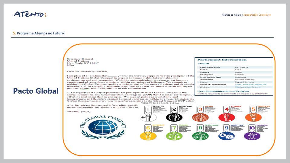 Pacto Global 5. Programa Atentos ao Futuro