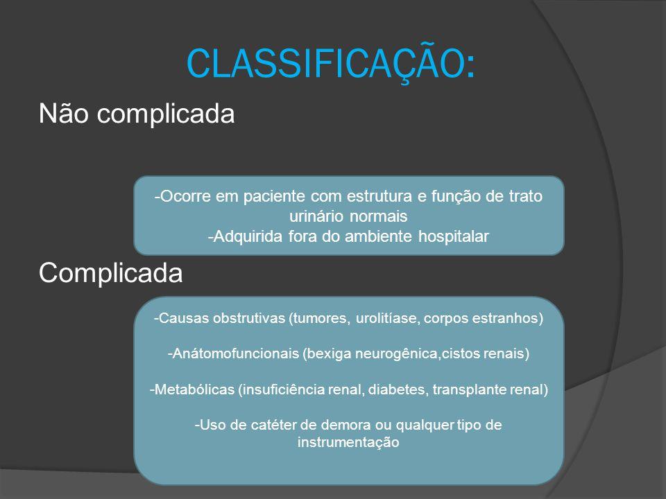 CLASSIFICAÇÃO: Não complicada Complicada
