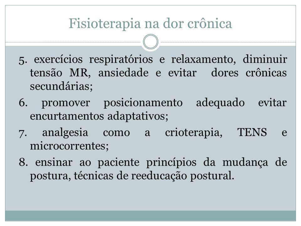 Fisioterapia na dor crônica