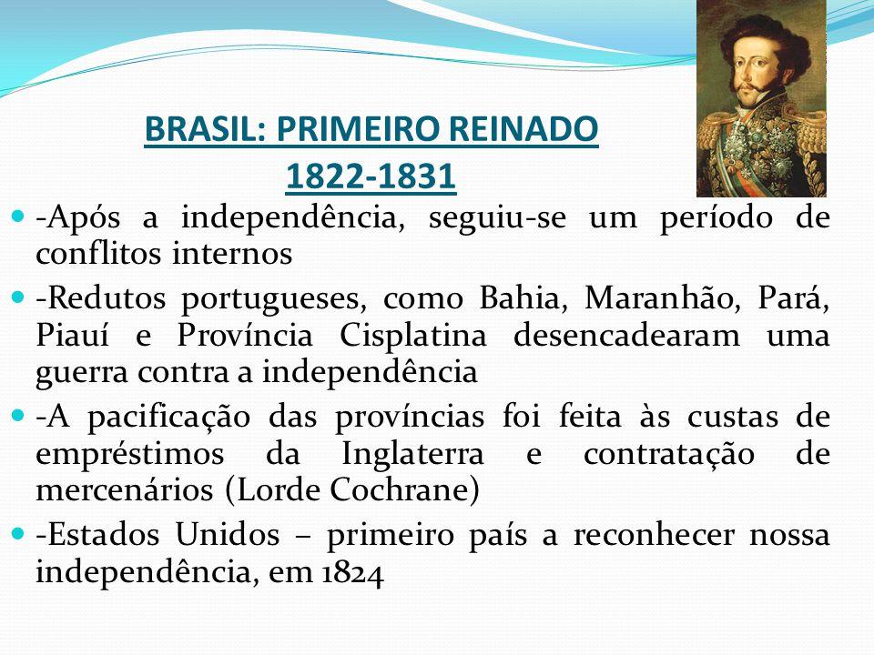BRASIL: PRIMEIRO REINADO 1822-1831
