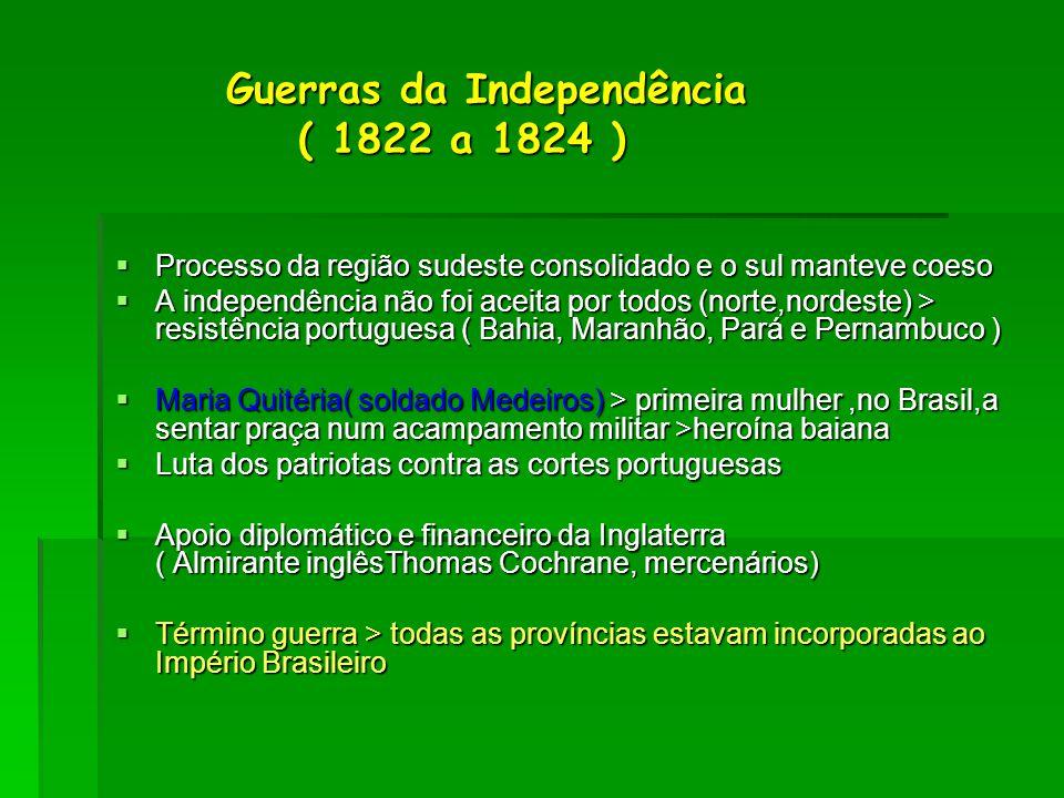 Guerras da Independência ( 1822 a 1824 )