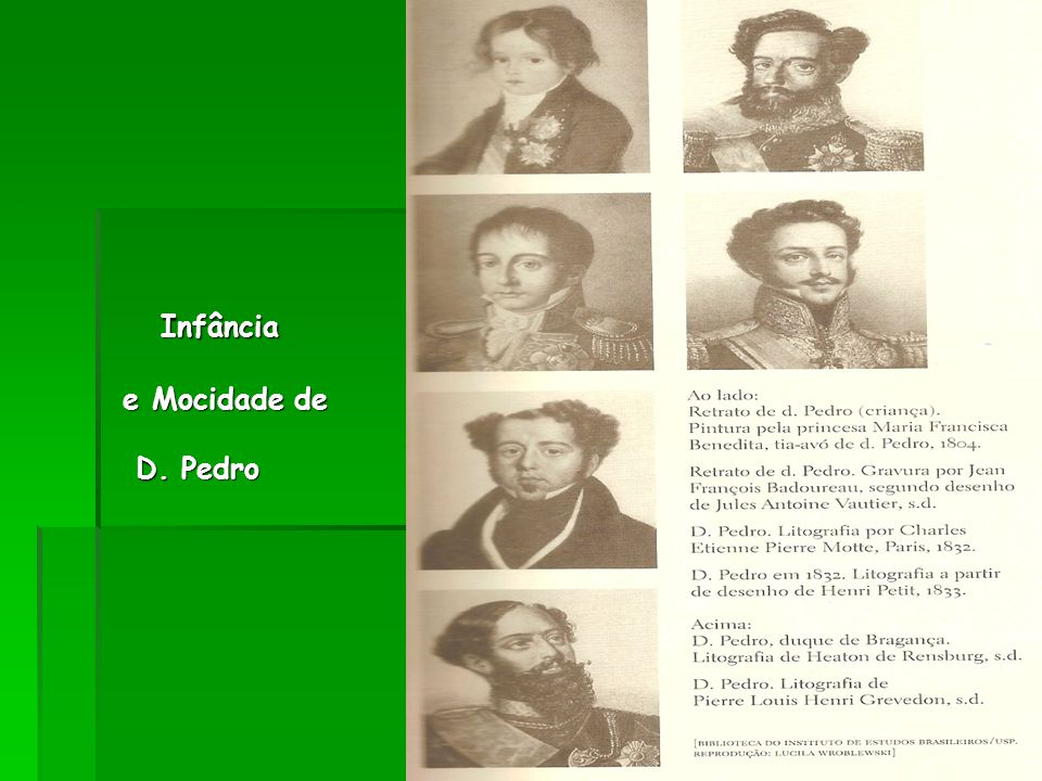 Infância e Mocidade de D. Pedro