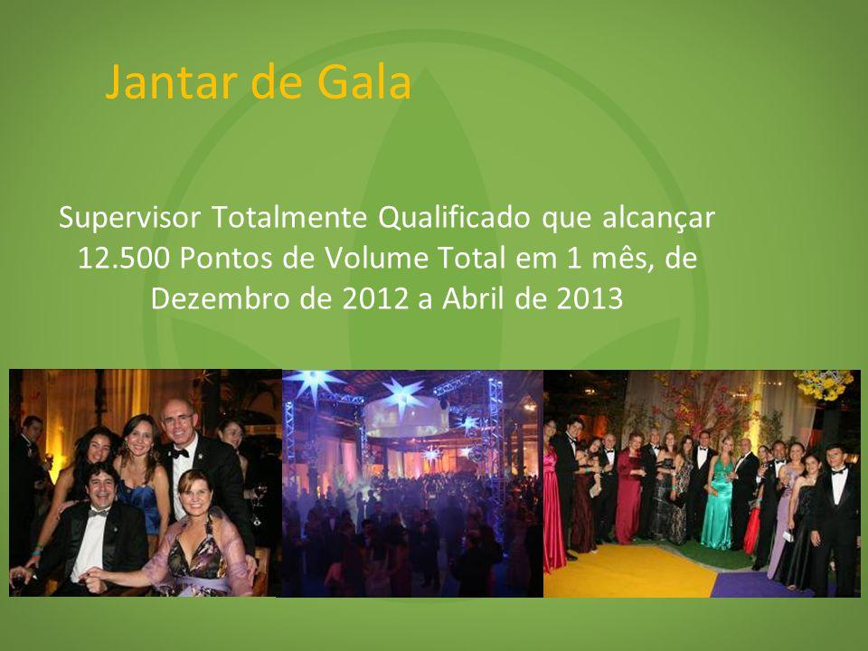 Jantar de Gala Supervisor Totalmente Qualificado que alcançar 12.500 Pontos de Volume Total em 1 mês, de Dezembro de 2012 a Abril de 2013.