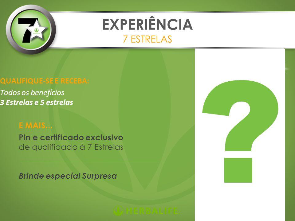 EXPERIÊNCIA 7 ESTRELAS QUALIFIQUE-SE E RECEBA: