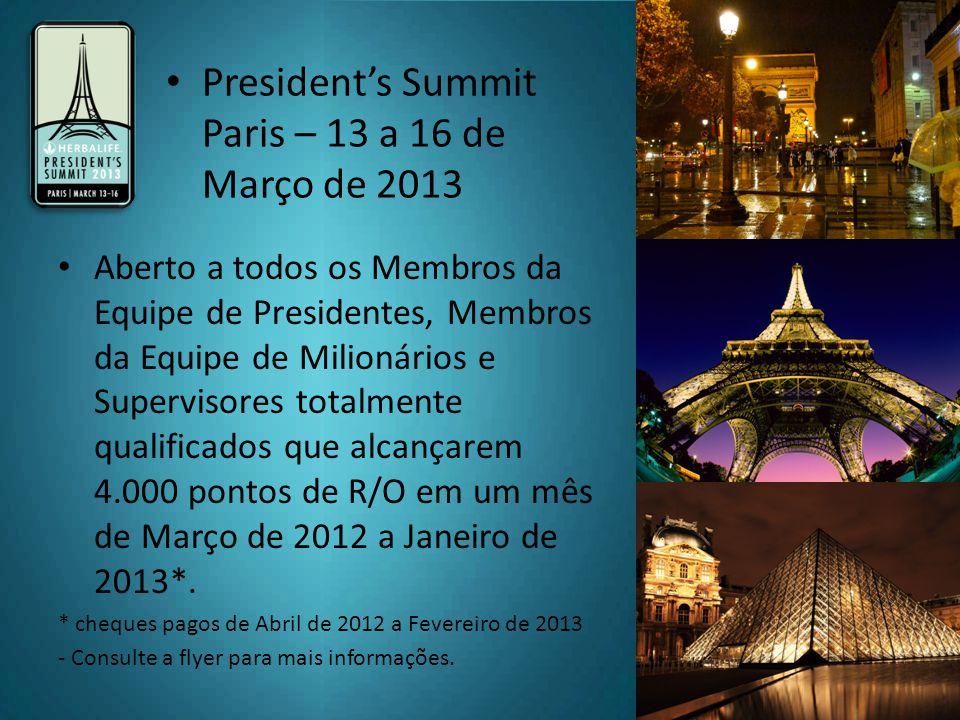 President's Summit Paris – 13 a 16 de Março de 2013