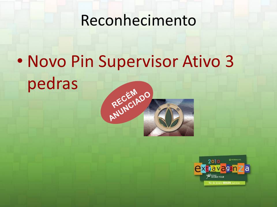 Novo Pin Supervisor Ativo 3 pedras
