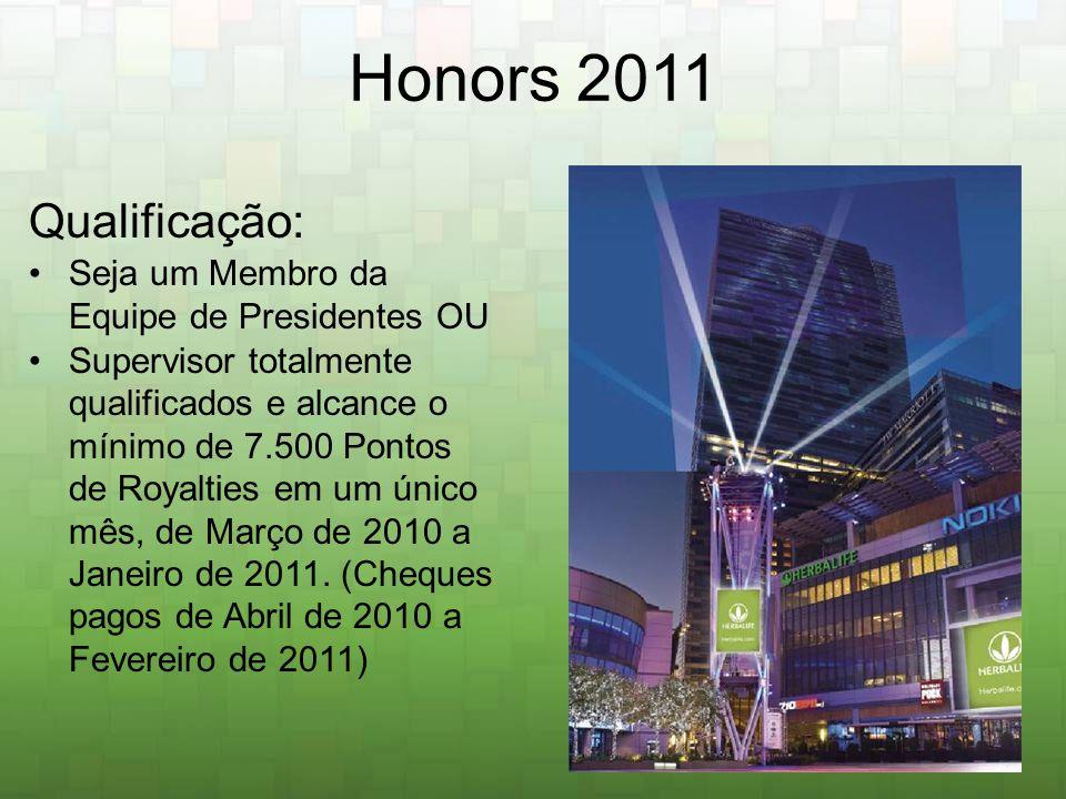 Honors 2011 Qualificação: Seja um Membro da Equipe de Presidentes OU