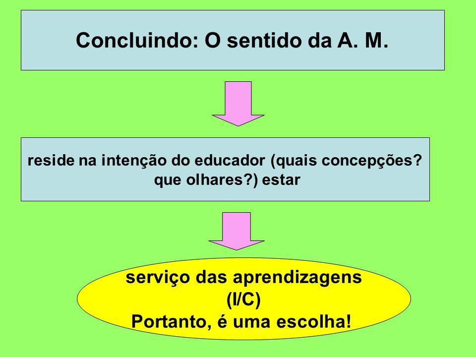 Concluindo: O sentido da A. M.