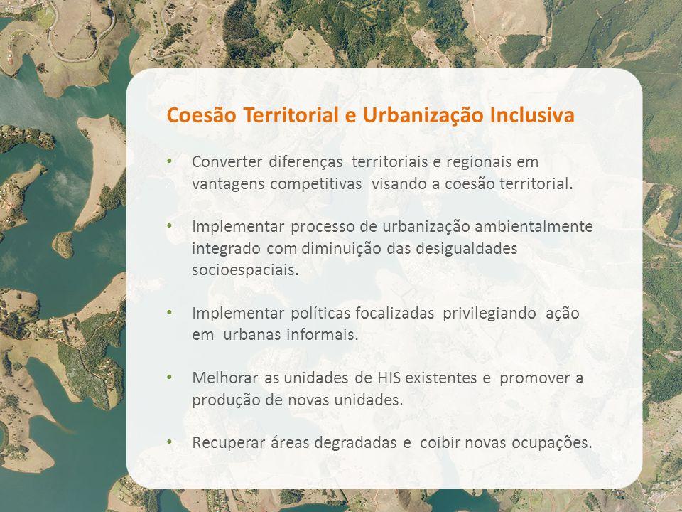 Coesão Territorial e Urbanização Inclusiva