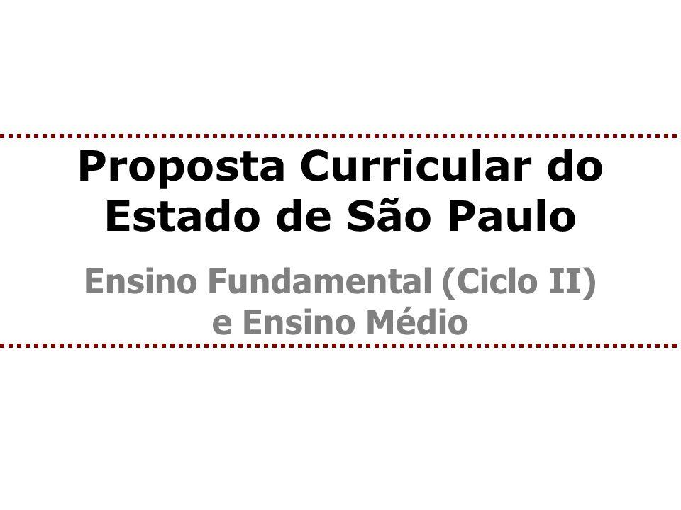 Proposta Curricular do Estado de São Paulo