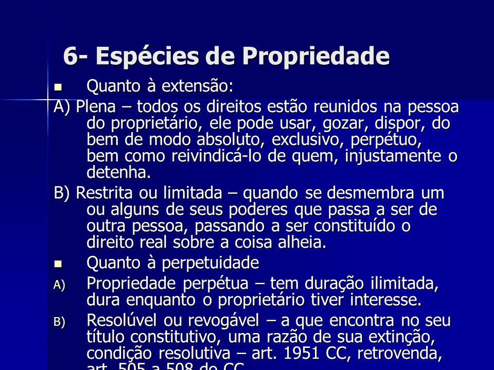 6- Espécies de Propriedade