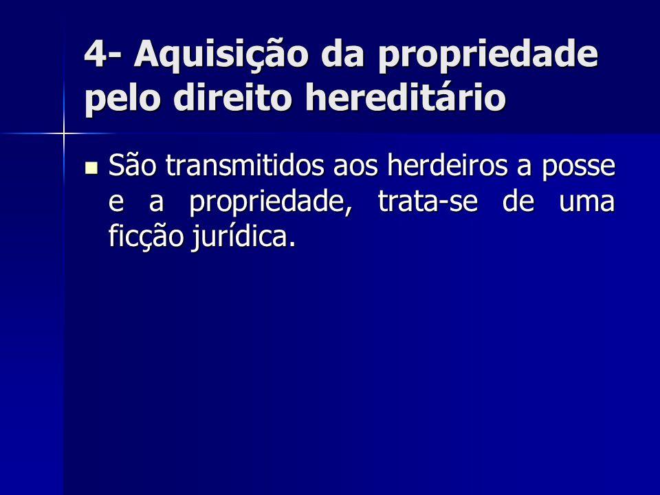 4- Aquisição da propriedade pelo direito hereditário
