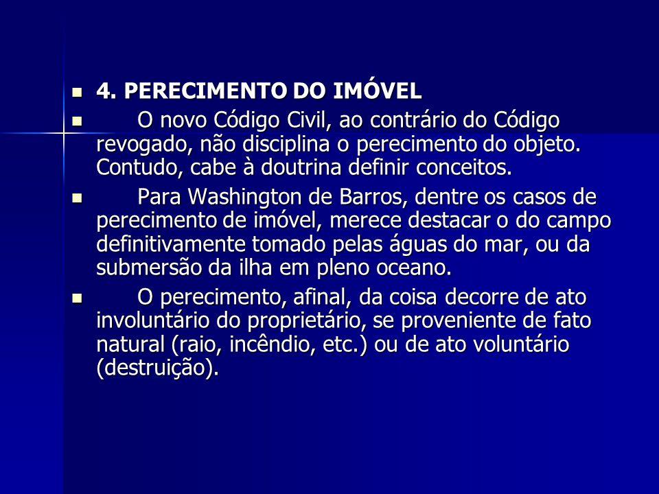 4. PERECIMENTO DO IMÓVEL
