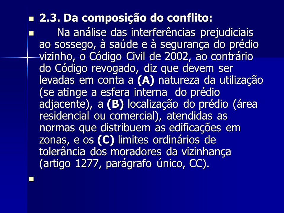 2.3. Da composição do conflito: