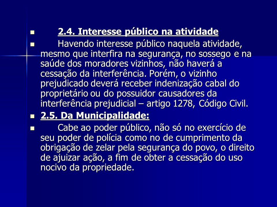 2.4. Interesse público na atividade
