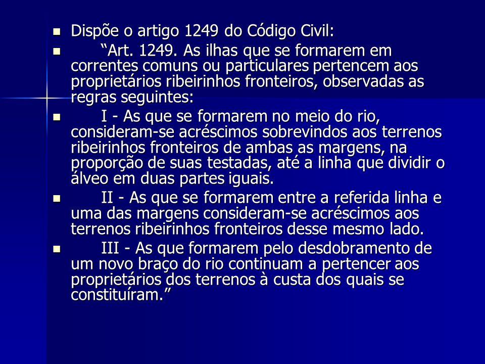 Dispõe o artigo 1249 do Código Civil: