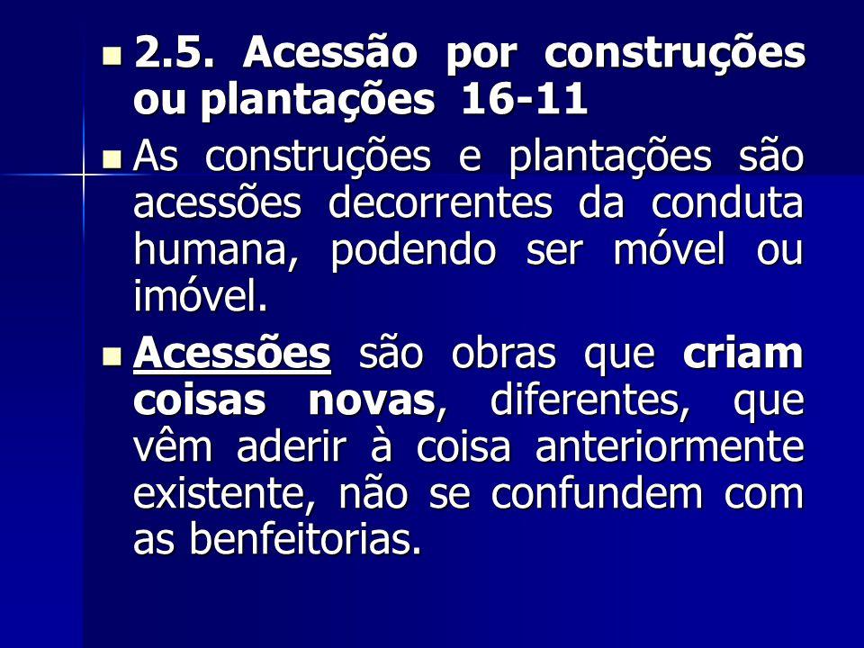 2.5. Acessão por construções ou plantações 16-11