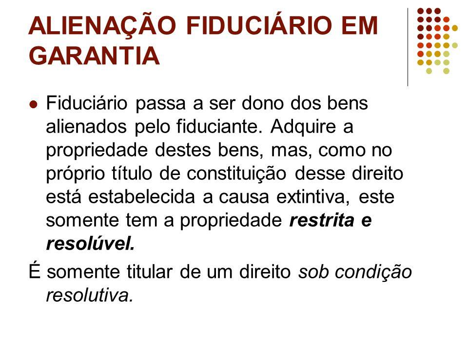 ALIENAÇÃO FIDUCIÁRIO EM GARANTIA