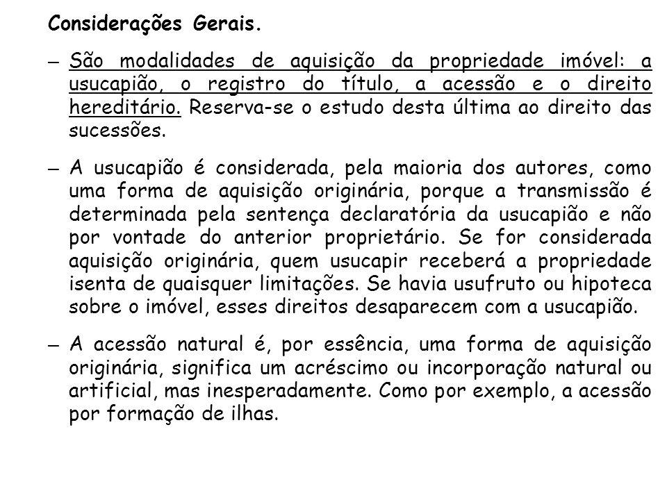 Considerações Gerais.