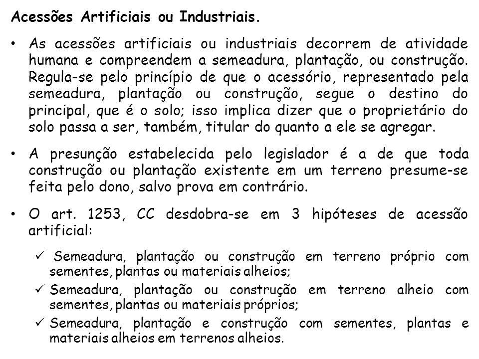 Acessões Artificiais ou Industriais.