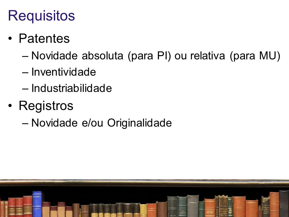 Requisitos Patentes Registros