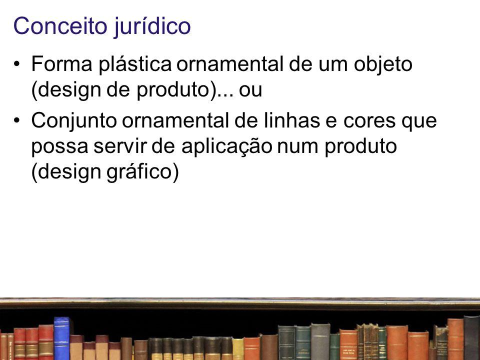 Conceito jurídico Forma plástica ornamental de um objeto (design de produto)... ou.