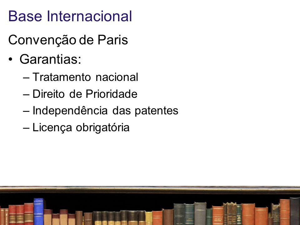 Base Internacional Convenção de Paris Garantias: Tratamento nacional