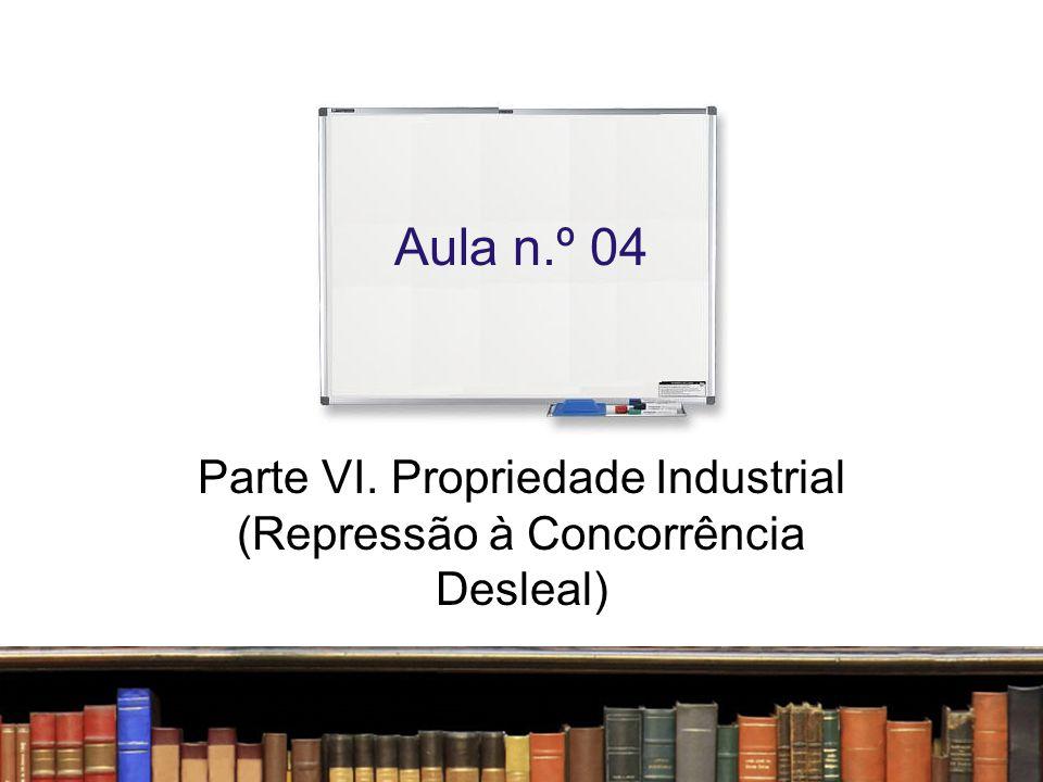 Parte VI. Propriedade Industrial (Repressão à Concorrência Desleal)