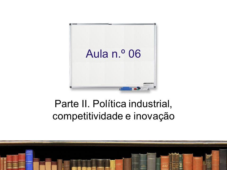 Parte II. Política industrial, competitividade e inovação