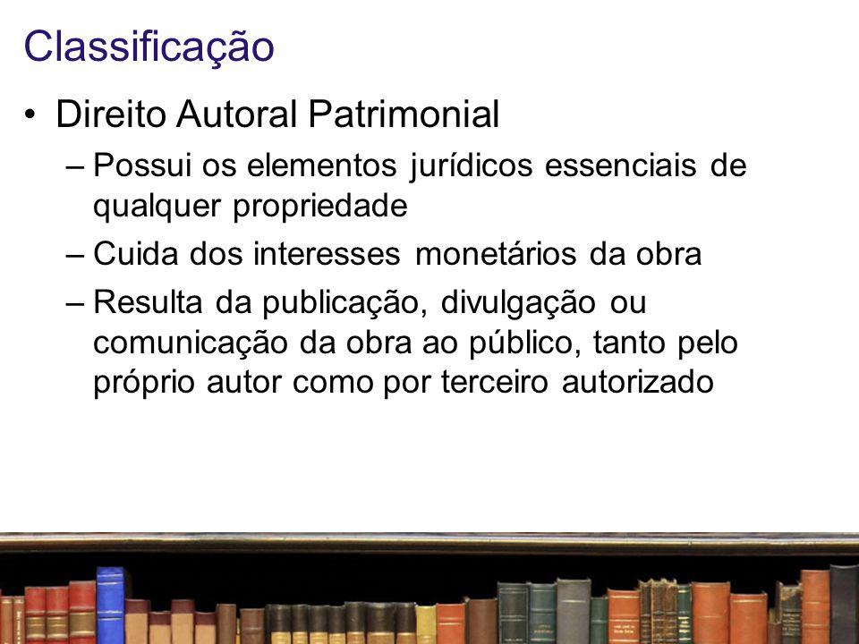 Classificação Direito Autoral Patrimonial