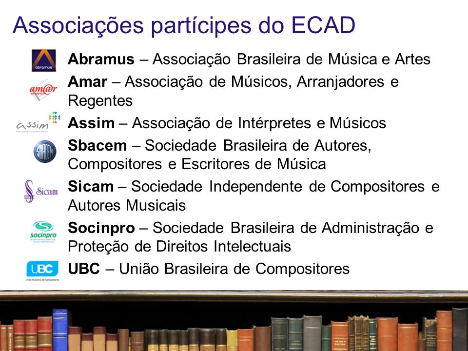 Associações partícipes do ECAD