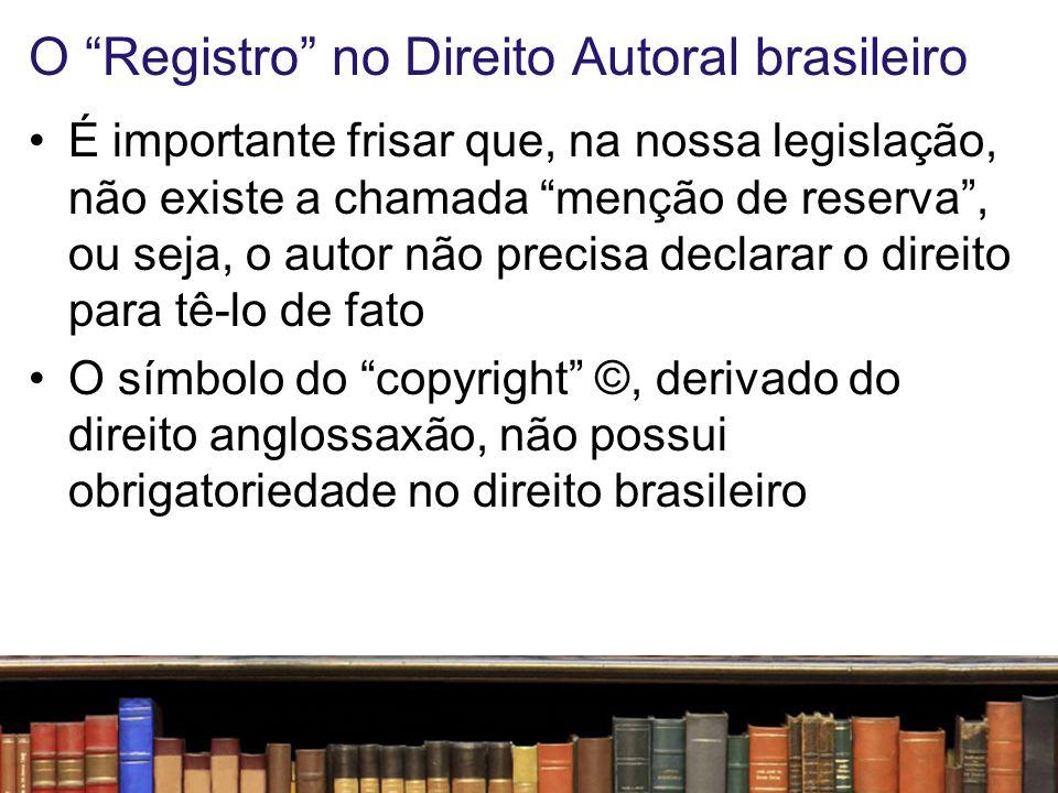 O Registro no Direito Autoral brasileiro