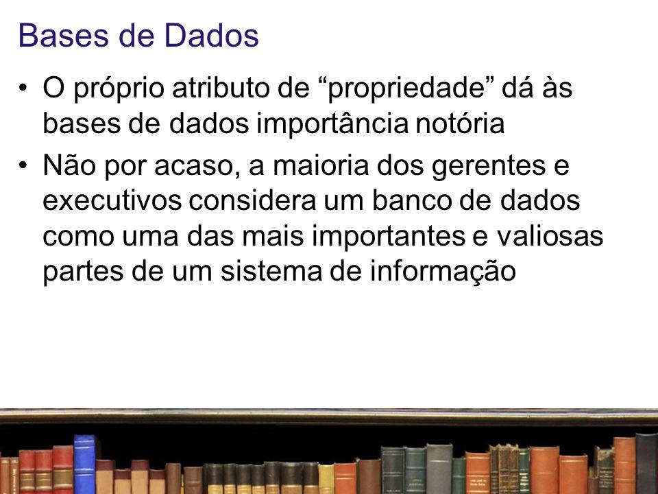 Bases de Dados O próprio atributo de propriedade dá às bases de dados importância notória.