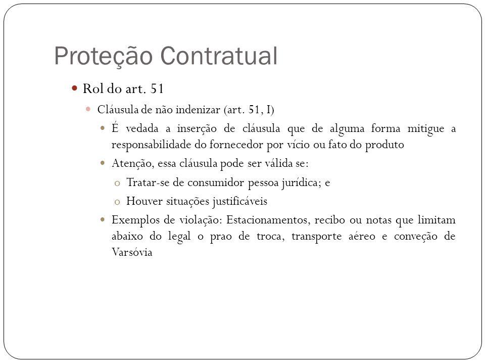 Proteção Contratual Rol do art. 51