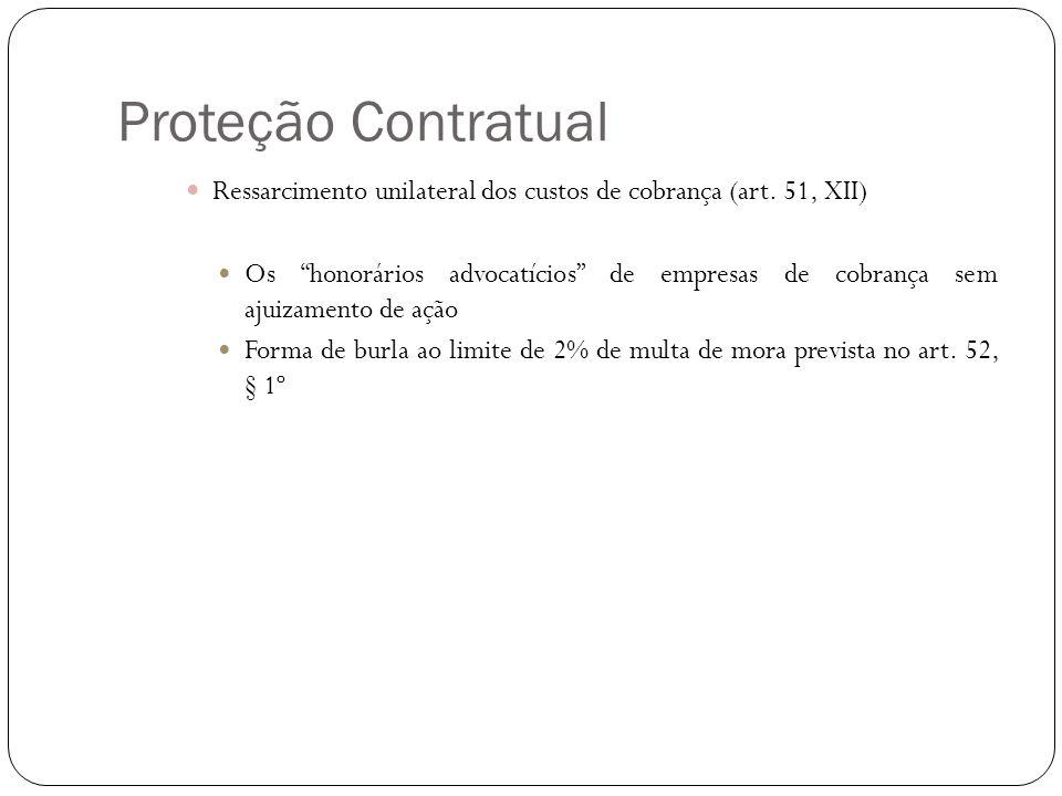 Proteção Contratual Ressarcimento unilateral dos custos de cobrança (art. 51, XII)