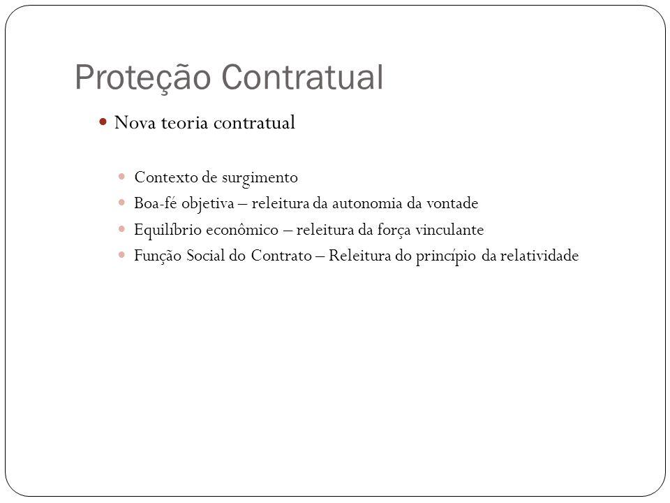 Proteção Contratual Nova teoria contratual Contexto de surgimento