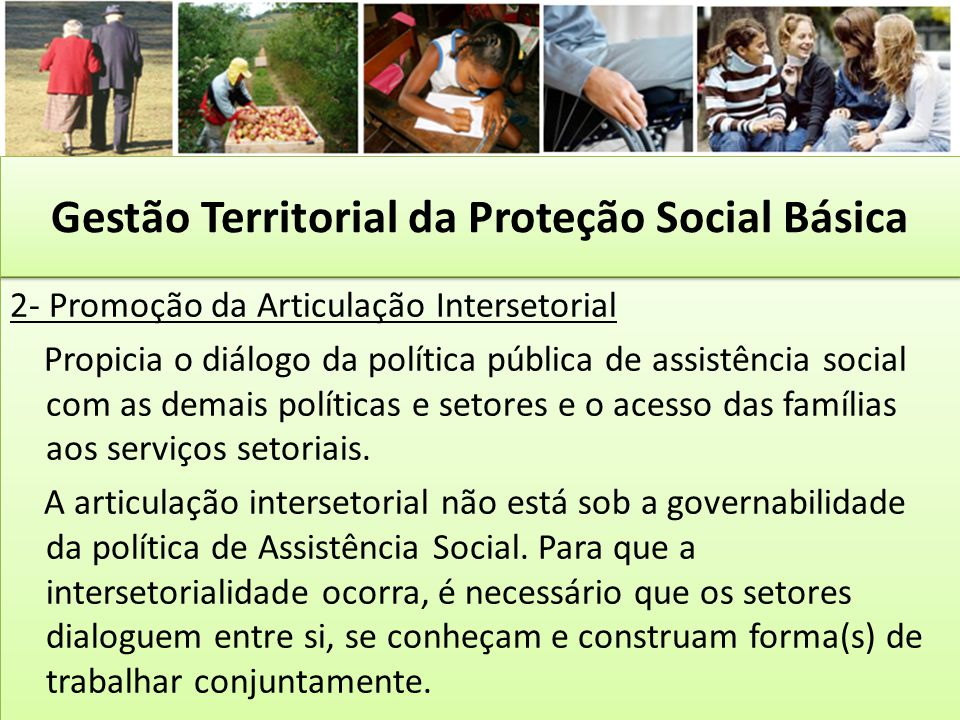Gestão Territorial da Proteção Social Básica