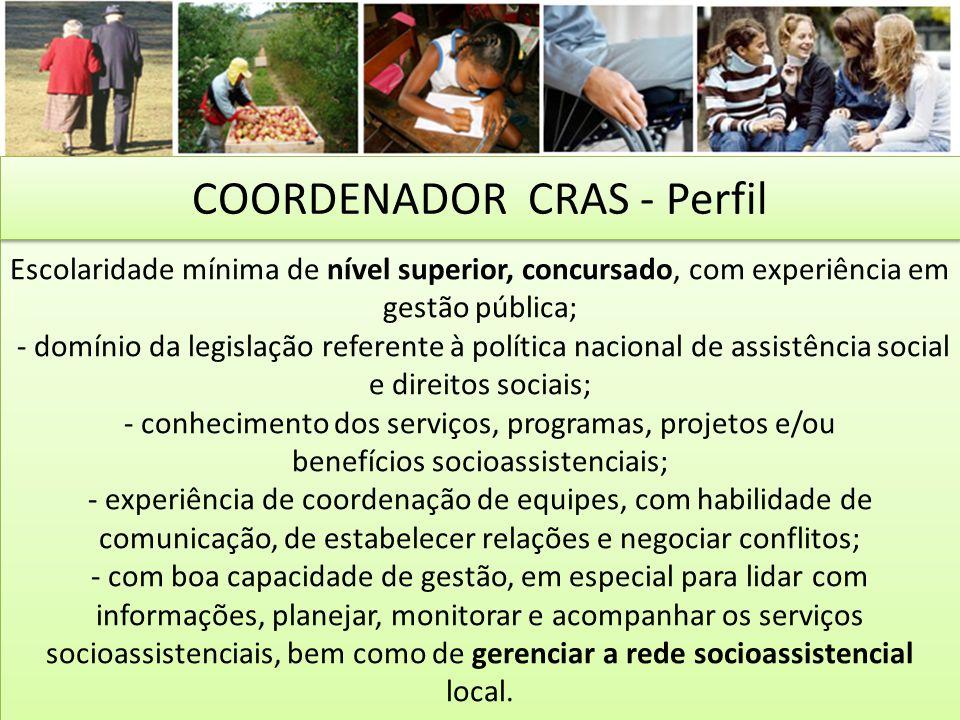 COORDENADOR CRAS - Perfil