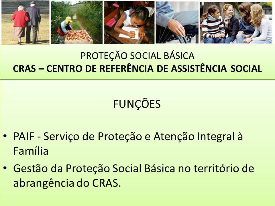 PROTEÇÃO SOCIAL BÁSICA CRAS – CENTRO DE REFERÊNCIA DE ASSISTÊNCIA SOCIAL
